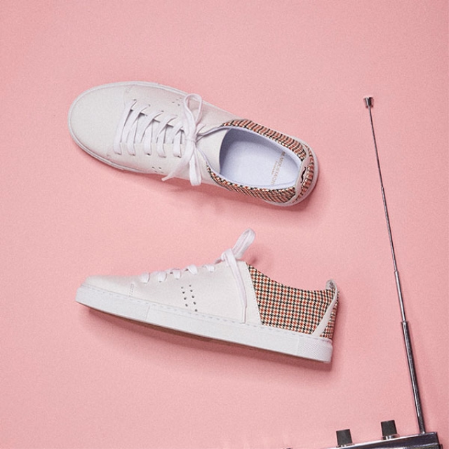 [Recycle] Womens RENEE Brown Houndstooth Sneakers