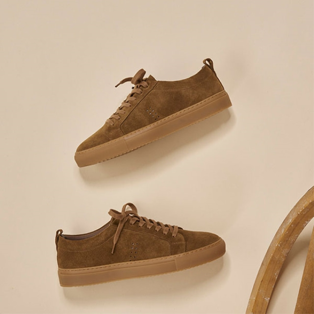 Mens Brice Suede Brown Sneakers