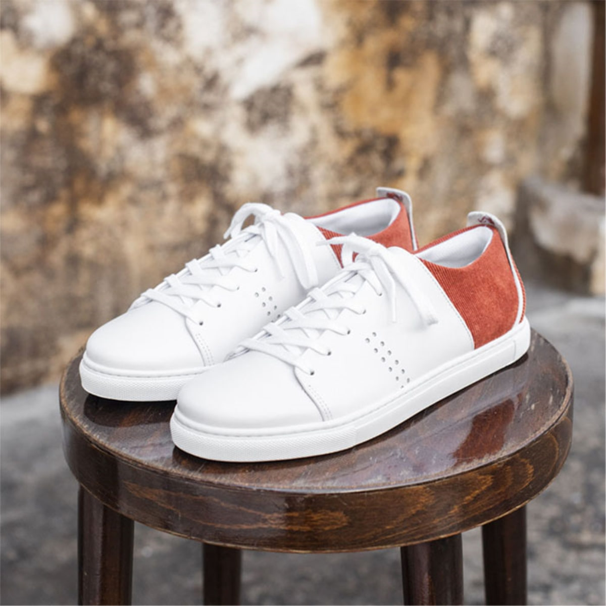 Mens RENE Corduroy Terracota Sneakers 0MM93MSN10