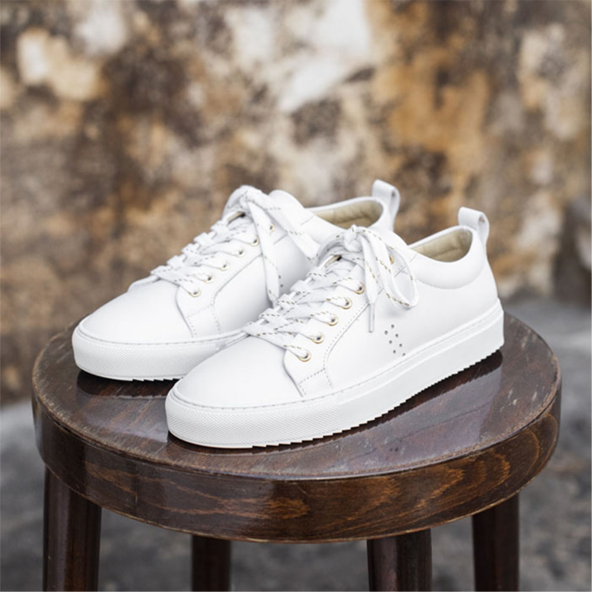 Womens BRIGITTE Leather White Sneakers 0MM93GSN02