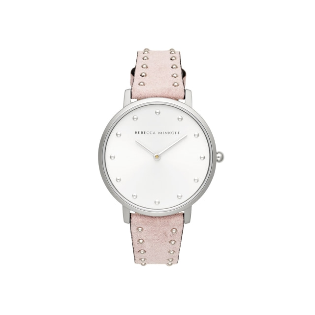 [본사공식] Major Silver Blush Stud Suede Watch 35mm