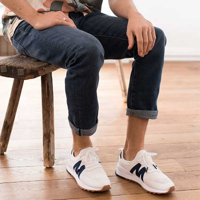 Mens MICHEL Navy Sneakers