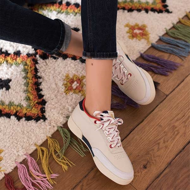 Womens ANNE Red Navy Sneakers