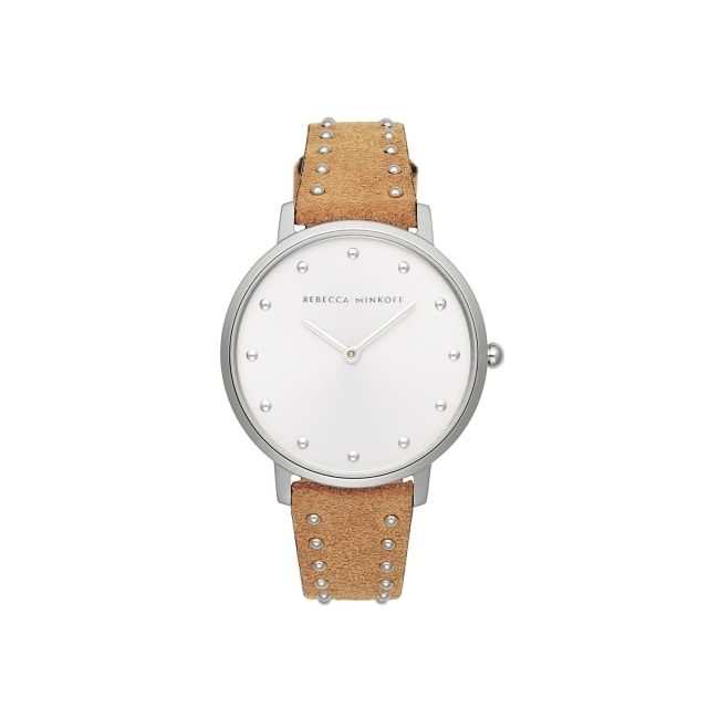 [본사공식] Major Silver Honey Stud Suede Watch 35mm