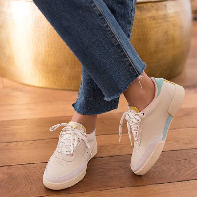 Womens ANNE Mint Pink Sneakers