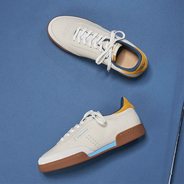 Mens ANATOLE Blue Mustard Sneakers