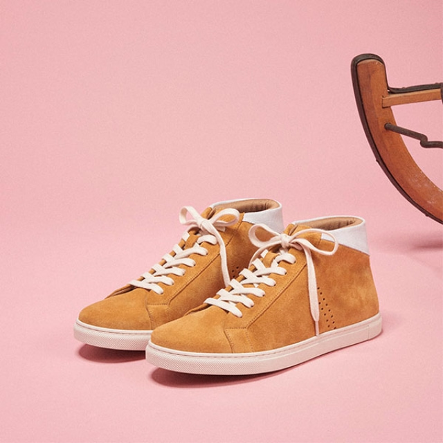 [Recycle] Mens RICHARD Suede Mustard Sneakers