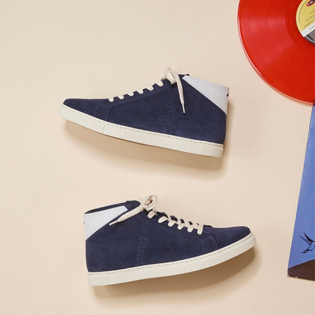 [Recycle] Mens RICHARD Suede Navy Sneakers
