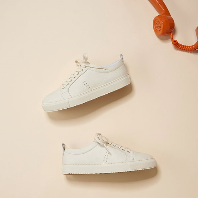 [Recycle] Womens BRIGITTE Leather Off White Sneakers
